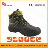 Schoenen van uitstekende kwaliteit van de Veiligheid van het Leer van de Lage Prijs de Goedkope Vlotte (RS6203)