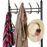O carrinho de múltiplos propósitos do revestimento de 18 roupa dos ganchos calç o carrinho de guarda-chuva da cremalheira