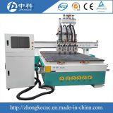 Nieuwe Verkoop 4 Pneumatische Atc die van Hoofden Houten CNC Machine snijden