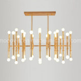 Northern Europe Bamboo Joint Steel Pipe Pendant Lamp for Dining Room