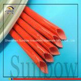 4.0kv Kokers van de Glasvezel van het Silicone van Glassfiber Sleeving van het silicone de Rubber Met een laag bedekte