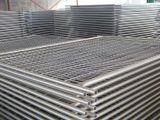 Cerca provisória removível galvanizada revestida pó de Retratable