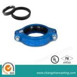 Blaue Beschichtung flanschte Kontaktbuchse-duktile Eisen-Rohrfittings