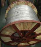 Cabo coaxial como o fio de aço folheado de alumínio para o fio à terra de fibra óptica