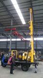 트레일러에 의하여 거치되는 드릴링 리그 휴대용 우물 시추공 드릴링 기계
