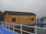 Drijvend Blokhuis op Rivier