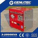 Генератор 5000W охлаженный воздухом дальнего прицела портативный молчком тепловозный (DG6700SLE)