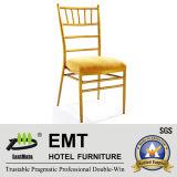 Chaise en aluminium d'or de Benquet Chivari (EMT-801)