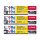 Carta patinata personalizzata stampa del contrassegno/adesivo sensibile alla pressione bianco di Pet/PP