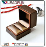 Коробка подарка упаковки ювелирных изделий коробки хранения ювелирных изделий PU кожаный для серег двойных кец кольца (YS378A)
