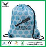 Il sacchetto di Drawstring non tessuto amichevole di Eco con la chiusura lampo anteriore mette in mostra il sacchetto di Drawstring