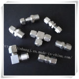 위조된 Stainless Steel Fitting Pipe Four Ferrule ASTM 304 316 316L Tubing Fitting