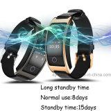 Bracelet intelligent avec le moniteur de fréquence cardiaque et de pression sanguine (CK11S)