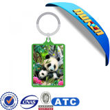 3D Lenticular Picture Advertizing Acrylic Keychain