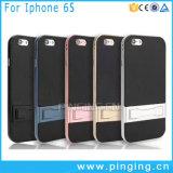 Cas de butoir de couverture de fibre de carbone de PC pour l'iPhone 6 cas positifs