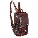 Sac à dos d'ordinateur portatif de cuir de sac de sac à dos de modèle de mode