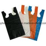 HDPEの明白なプラスチックベストのハンドル袋