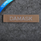 Etiqueta tecida do projeto mancha feita sob encomenda Eco-Friendly nova para o vestuário