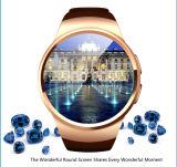 Nuevo teléfono elegante del reloj 2016 con Bluetooth 4.0 y la pantalla redonda (K18)