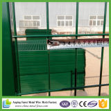 Attraktives grünes Puder-überzogener temporärer Zaun