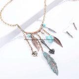 新しいマルチペンダントボヘミア様式のビードのネックレスおよびEardropの宝石類セット