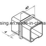 Quadratisches Glassatin-Ende des geländer-Element-Edelstahl-316