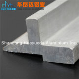 산업 단면도가 은 매트에 의하여 양극 처리된 알루미늄 밀어남에 의하여 윤곽을 그린다
