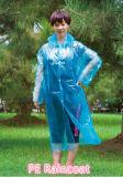 PET billig fördernder heißer Verkaufs-wegwerfbarer Regenmantel