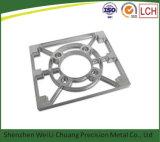 As peças mecânicas de alumínio da máquina de giro do torno do CNC com preto anodizam