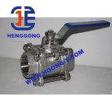 Válvula de esfera pneumática da linha do aço inoxidável de API/ANSI/DIN
