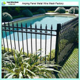 los 2.1m Powder Coated Commercial Steel Picket Fence para Australia Market