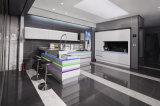 ヨーロッパ式の現代白い光沢のあるラッカー食器棚、小さい台所デザイン