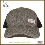 編まれたラベルが付いているカスタム麻の網の背部トラック運転手の帽子