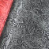 花によって印刷される浮彫りにされたPU袋の革、総合的なPUの靴革