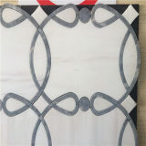 Weiße Farben-Wasserstrahlfliesen, Marmorwand-Mosaik für Verkauf