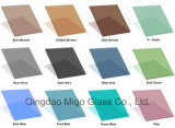 Vidro de flutuador matizado, cinza colorido, verde, azul, vidro de flutuador decorativo de bronze