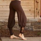 女性のズボンのための方法綴じひものヨガのズボン