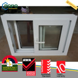 Resbalador esmaltado doble Windows del impacto del huracán del vinilo del PVC alto