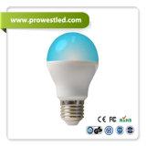 Plastic RGBW Controlling LED Bulb著6W Aluminum Wrapped