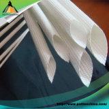 Sleeving trançado da fibra de vidro do silicone cabo revestido interno