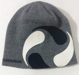 La impresión de encargo hizo punto la gorrita tejida bordada casquillo el sombrero caliente del invierno