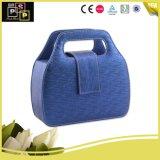 Form empfindlicher blauer Griff widergespiegelter Schnell-PU-lederner kosmetischer Beutel (8051)