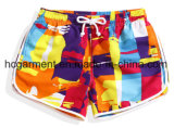 Strip / Solid Sex Beach Wear Rapide Dry Board Shorts pour femmes / Lady