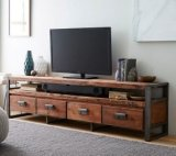 固体木の古典的なTVの立場(M-X2183)