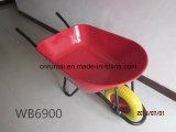Wheelbarrow enorme da construção da roda do formulário do plutônio da bandeja (Wb6900)
