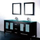 Étage du genre américain restant la vanité commerciale de salle de bains de double bassin