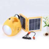 이동할 수 있는 충전기 및 FM 라디오를 가진 태양 에너지 손 테이블 책상 손 LED 독서용 램프 손전등 빛