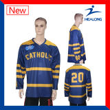 Ihr Namenssublimation-Eis-Hockey Jersey setzen