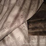 Tessuto della pelle scamosciata del cuoio impresso con la protezione spessa del panno morbido