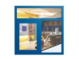 Ventana que aterroriza de aluminio para el chalet, ventana de cristal colgada superior colorida modificada para requisitos particulares de la alta calidad de la doble vidriera